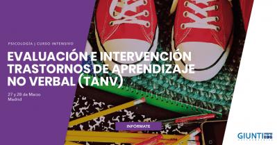 Evaluación e Intervención Trastornos de Aprendizaje No Verbal (TANV)